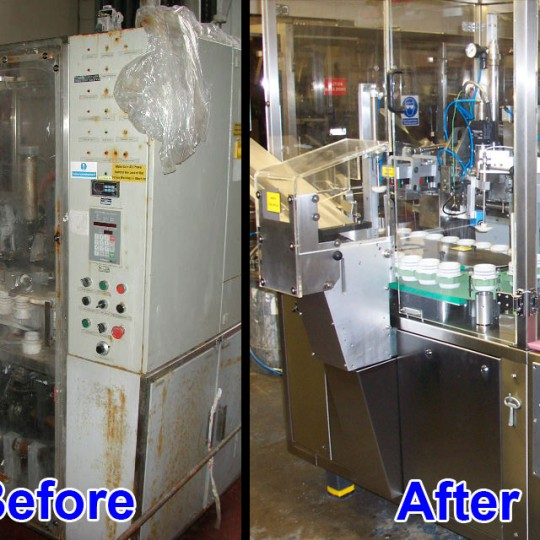 two machines before and after